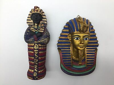 COMBO! Egypt Pharaoh Box With A Ancient Egyptian Sculpture