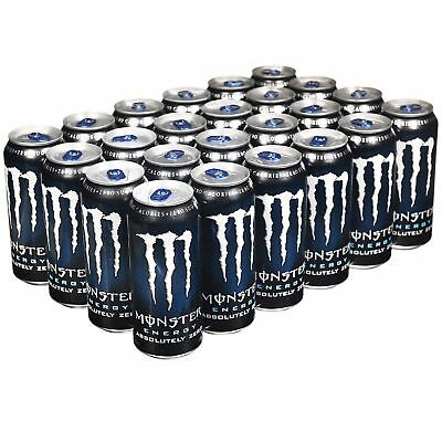 Monster Absolutely Zero Energy Drink 16 oz. cans, 24 ct.