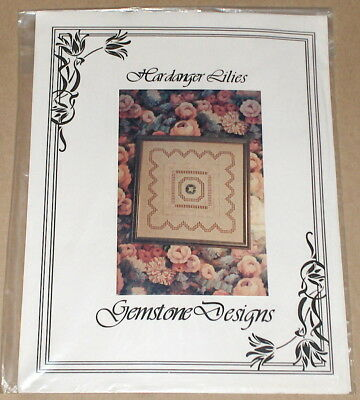 "1995 Gemstone Designs ""Hardanger Lilies"" Embroidery Pattern"