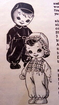 GREAT VTG 1940s SOCK DOLL & CLOTHING SEWING PATTERN