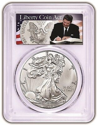 2018 1oz Silver Eagle PCGS MS69 - Liberty Coin Act Label