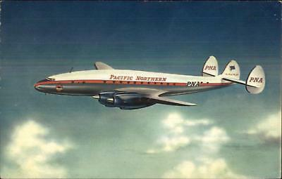 Pacific Northern Airline Airplane Constellation Air Line Issued Postcard