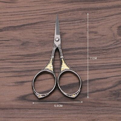 1PC Stainless Steel Vintage Floral Scissors Sewing Shears DIY Tools