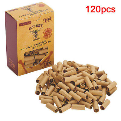 120pcs Pre-rolled Filter Paper Rolling Paper Tips Cigarette Accessories 7mm