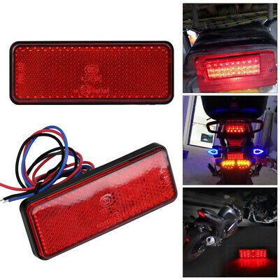 Red LED Car Truck Trailer Motorcycle Reflector Rear Tail Brake Stop Marker Light