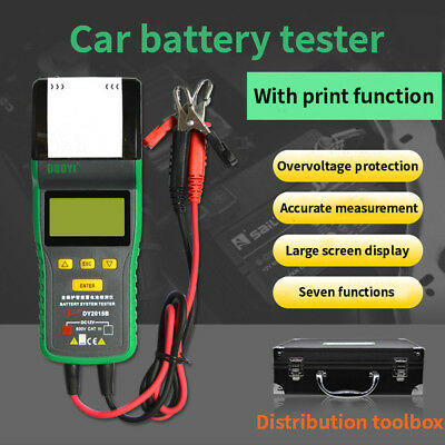 DY2015B battery tester 12V with print battery detection battery capacity tester