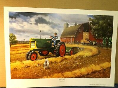 OLIVER TRACTOR  ART by CHARLES FREITAG - OLIVER TWIST -  ROW CROP 77 -PRINT ONLY