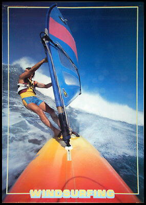 Rare 1987 WINDSURFING ACTION Classic Water Sports POSTER