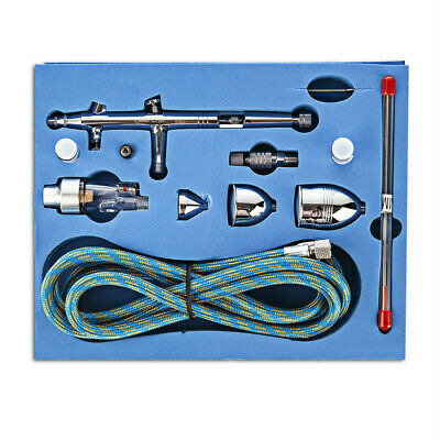 Dual Action Airbrush Kit 0.2mm/0.3mm/0.5mm Needle Spray Gun Tattoo Manicure Art