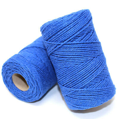 SOLID BLUE BAKERS TWINE 2mm 2 PLY - CRAFT TWINE STRING CORD WRAP EVERLASTO