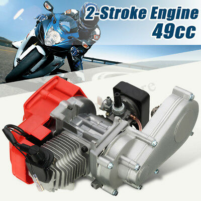 49cc 2 Stroke Engine Air Filter Gear Box CARB Mini Pit Quad Dirt Bike ATV Buggy
