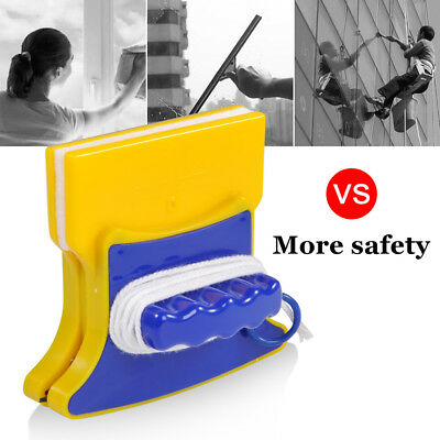 Double Side Magnetic Window Cleaner Glass Surface Wiper Cleaning Brush Home Tool