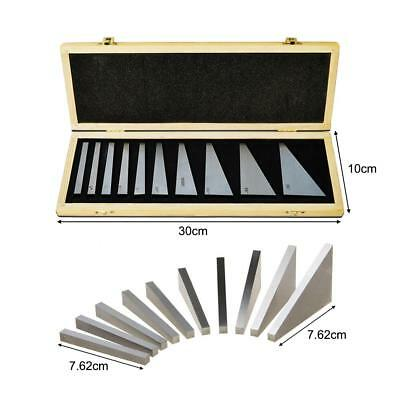 10Pcs Precision Angle Blocks Set Lathes Milling Machinist Ground 1-30 Degree