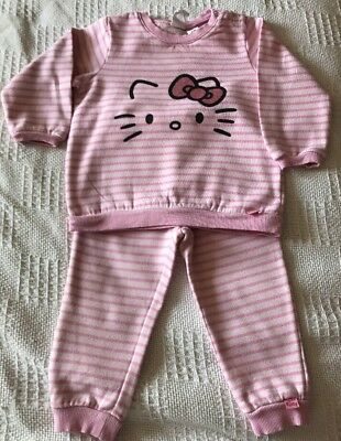 H&M Baby Girls Pink Hello Kitty 2 Piece Outfit. Age 1 1/2 - 2 Years