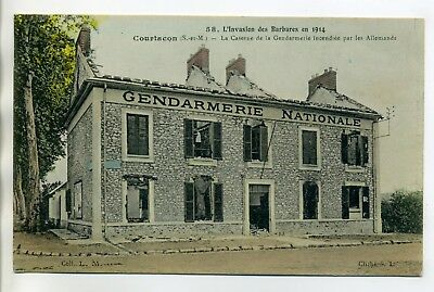 77 COURTACON Caserne Gendarmerie Nationale incendiée par Allemands 1914 E11 2018