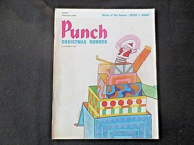 Vintage PUNCH Magazine 6 December 1967 CHRISTMAS Santa Jack in the Box 1960s