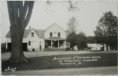 c1920s General Store PO and Gas Pump at Plymouth Vermont VT real photo postcard