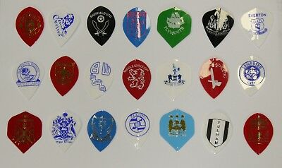 Pack Of 3 Football Dart Flights - Choose From 21 Licensed F.c Clubs
