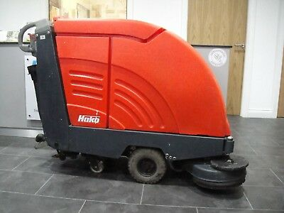 3 x Reconditioned Hako B655 Pedestrian Scrubber Dryers with NEW batteries