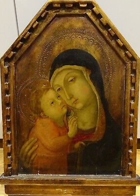 Fine 16th Century Italian Renaissance Old Master Madonna & Baby Oil On Panel