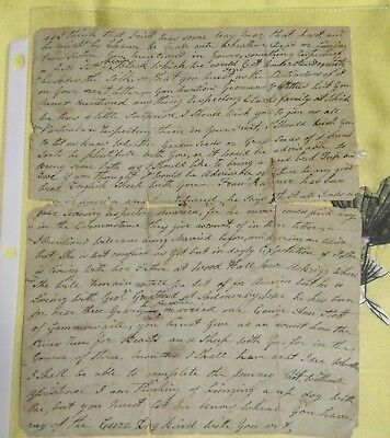 1700s LETTER FROM YORKSHIRE ENGLAND - TRAVEL TO AMERICA UNDATED - PRICE REDUCED!
