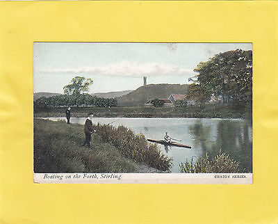 BOATING  on the  FORTH   ,    STIRLING  ,  SCOTLAND  ( F32 )