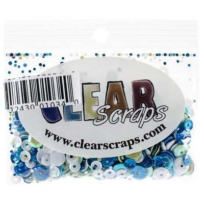 Clear Scraps Sequin Multi Pack 350 To 400 Pieces-ocean