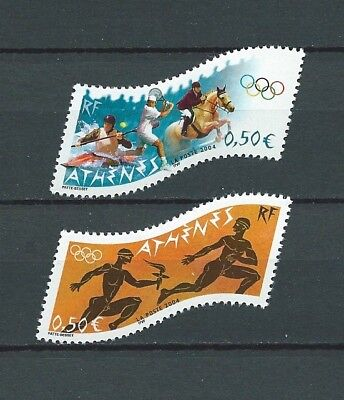 FRANCE - 2004 YT 3686 à 3687 - JEUX OLYMPIQUES - TIMBRES NEUFS** MNH LUXE