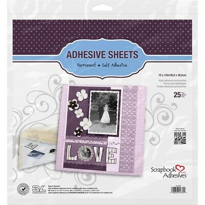 "Scrapbook Adhesives Permanent Adhesive Sheets 25/pkg-12""x12"""