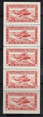 Canada #CL10b Extra Fine Mint Pane Of Five - Three Center Stamps Never Hinged