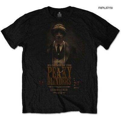 Official T Shirt PEAKY BLINDERS Shelby Brothers 'Established 1919' Black All Siz