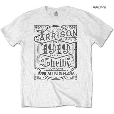b9f72f7d Official T Shirt PEAKY BLINDERS Shelby Brothers 'Garrison Pub' White All  Sizes