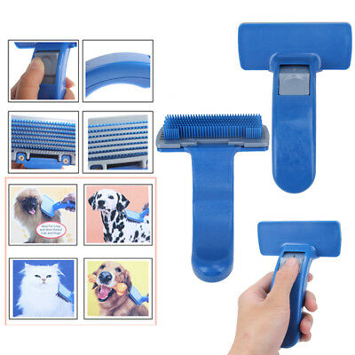 Pet Dog/Cat Grooming Self Cleaning Slicker Brush Comb Shedding Tool Hair Fur NEW