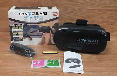 Genuine Cynoculars Black Virtual Reality Headset and Remote w/ Head Strap *READ*