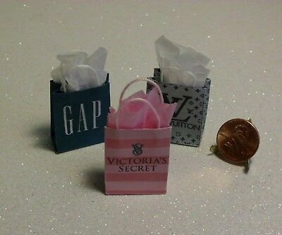 Dollhouse Miniature Gift Bag Set❤Designer❤1:12 Scale by Wendy Howard