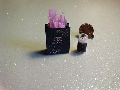 Dollhouse Miniature Gift Bag and Candle Set❤Designer❤1:12 Scale by Wendy Howard