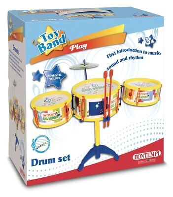 BATTERIA MUSICALE DRUM SET 3 TAMBURI E PIATTO BONTEMPI 513341 - EUR ... 62cc210e85e