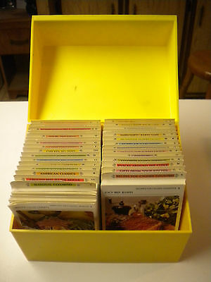 1971, Betty Crocker Recipe Card Library, Two Tone Yellow Box, 30 Categories (MD)