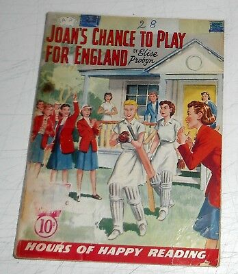 #291 Schoolgirl's Own Library Comics ~ JOAN'S CHANCE TO PLAY FOR ENGLAND ~ 1958