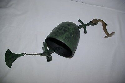 Vintage Brass Fitted Metal Wall Mounted Bell Ships