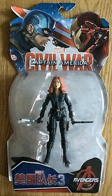 "New & Sealed - Marvel Captain America Civil War - Black Widow 6"" Avengers Figure"