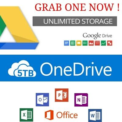 3+1 Unlimited google drive on existing acc+5tb on drive + 365 new acc life time