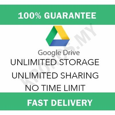 Unlimited google drive storage lifetime not edu on your acc unlimited