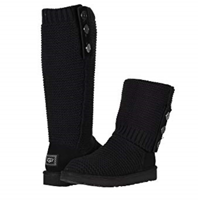 UGG PURL CARDIGAN Tricot Noir Bottes Femmes Taille 6 Neuf