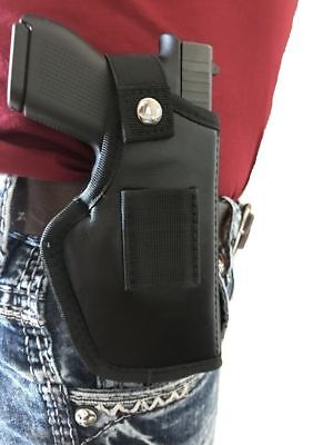 Leather Gun holster for For Smith & Wesson M&P Shield 40,45,9mm With Laser