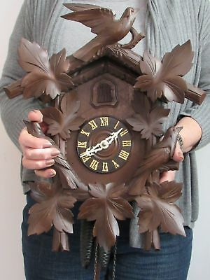 LARGE Vintage German Black Forest Hubert Herr Cuckoo Clock