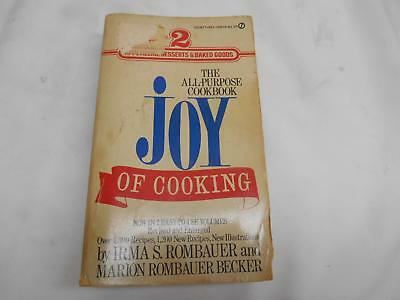 Old Vtg 1931/1974 THE ALL-PURPOSE COOKBOOK JOY OF COOKING Irma S. Rombauer Vol.2