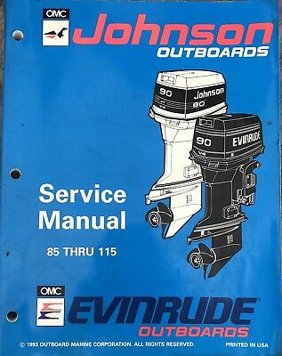 0MC Johnson Outboard Service Manual 1993 85 Thru 115
