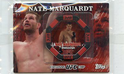 2010 Topps UFC Series 4 NATE MARQUARDT Exclusive UFC Collectible Chip SEALED MMA