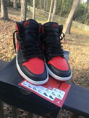low priced b9f4b 71e1e 2001 Nike Air Jordan 1 BRED retro Og sz 10.5 concord bred yeezy